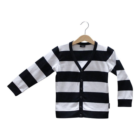 Lucky no 7 Black and white stripe bandit cardigan