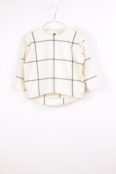 Motoreta Selena Top white & black grid