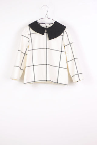 Motoreta Ran Blouse white & black grid