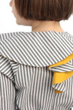 Motoreta Ona Blouse white & grey stripes