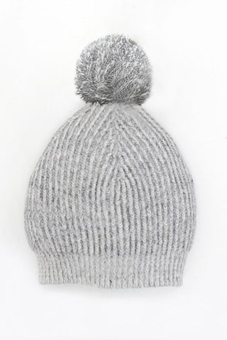 Motoreta Knitted Hat Marbled White and Grey