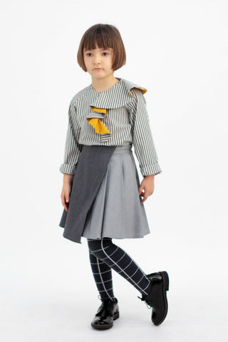 Motoreta Hayako Skirt grey denim