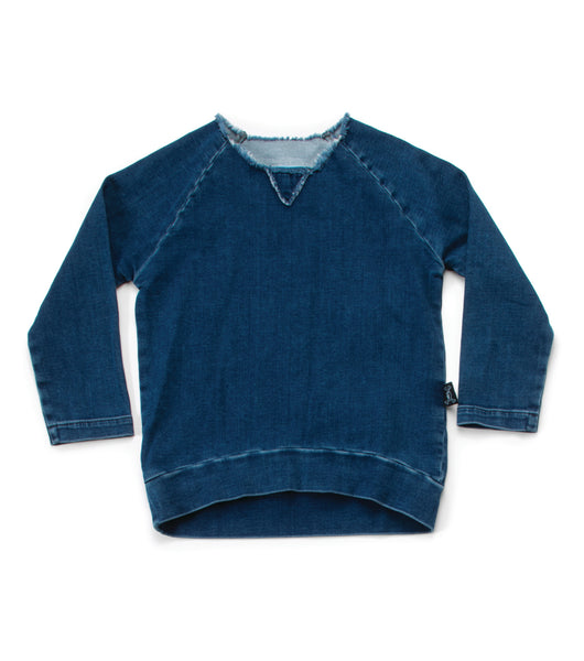 Nununu FW 17 long Sleeves Denim Sweatshirt