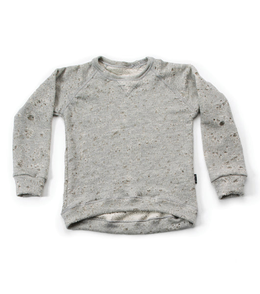 Nununu FW 17 Deconstructed Sweatshirt- Light Grey