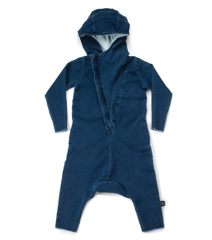 Nununu FW 17 Hooded Overall-Denim