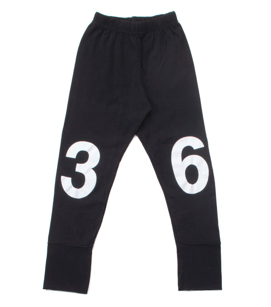 Nununu FW 17 Numbered Leggings- Black