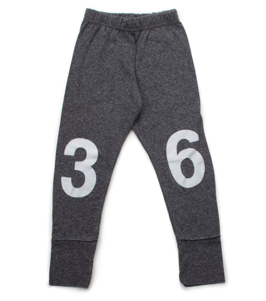 Nununu FW 17 Numbered Leggings- Charcoal