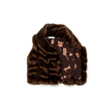 OMAMImini Faux Fur Vest | Chocolate