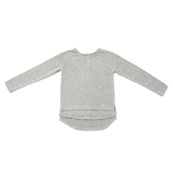 OMAMImini Soft-Knit Long Sleeve Tee | Heather Grey