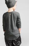 OMAMImini Soft-Knit Long Sleeve Tee | Charcoal