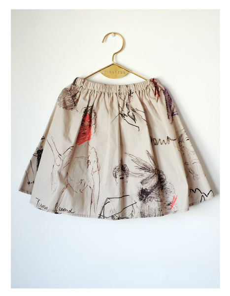 Wolf & Rita Paula Skirt | Faces