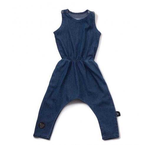 NUNUNU Denim Romper