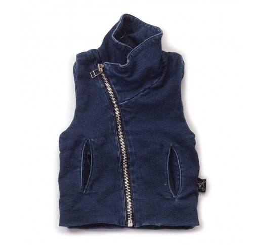 NUNUNU Denim French Terry Vest [LAST ONE]