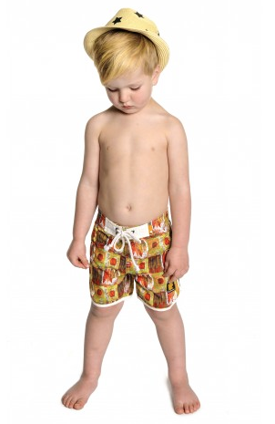 Rock Your Baby Barkcloth Boardshorts