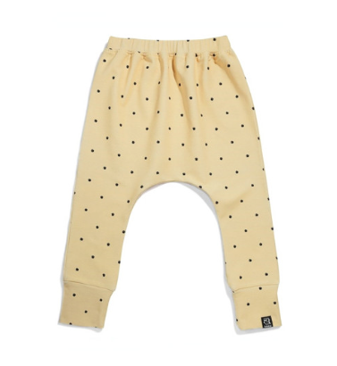 Kukukid Coffee footprint baggy pants