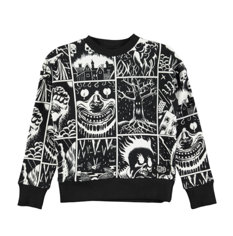 Molo Milton Horror Cartoon Sweatshirt