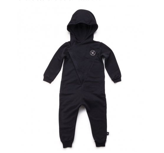 NUNUNU Hooded Overall | Black