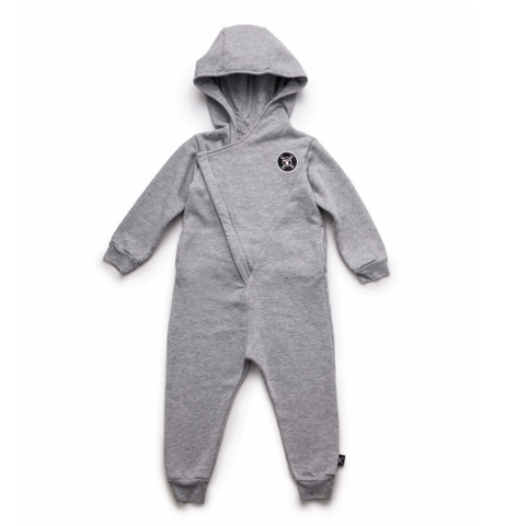 NUNUNU Hooded Overall | Heather Grey