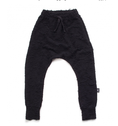 NUNUNU Deconstructed Baggy Pants | Black