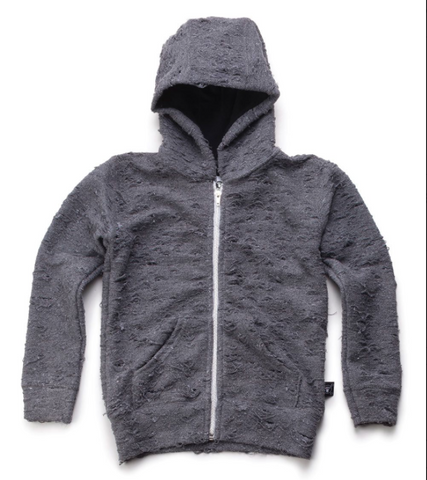 NUNUNU Deconstructed Hoodie | Dark Grey