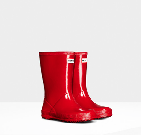 Hunter Boots Kids First Classic | Gloss Military Red