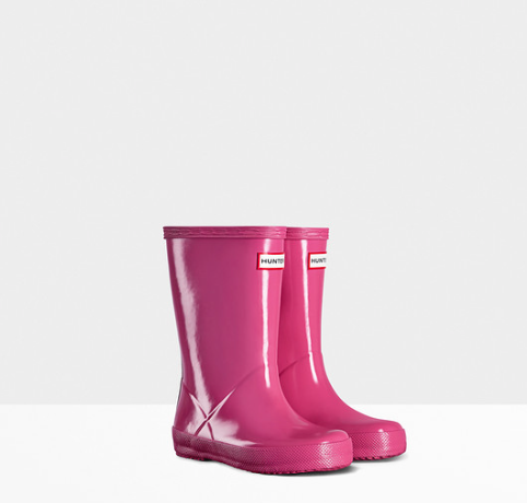 Hunter Boots Kids First Classic | Gloss Fuchsia