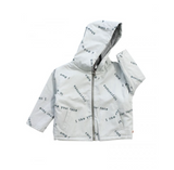 Tiny Cottons Many Words Padded Jacket | light blue [ LAST ONE ]