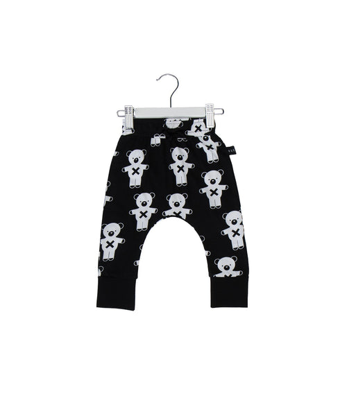 Huxbaby SS17 Soldier Bear Drop Crotch Pants in Black