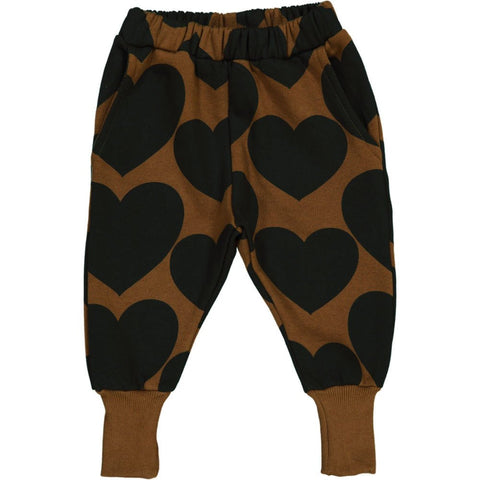 Hugo Loves Tiki Black/Brown Heart Sweat Pants [LAST ONE]