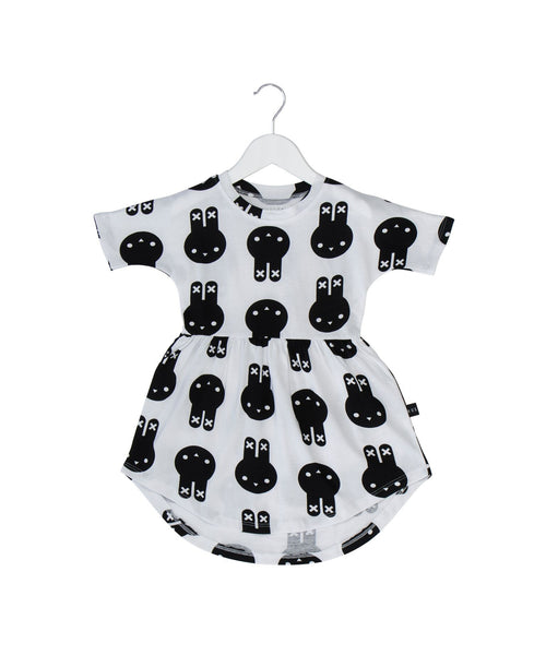 Huxbaby SS17 White Bunny Dress