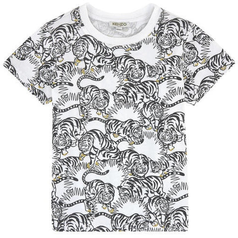 Kenzo Jungle Tee in Blanc