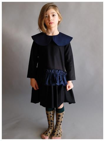 Wolf & Rita Adelaide Dress | Black Navy [LAST ONE]