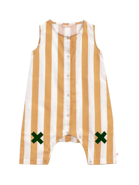 Tiny Cottons Stripes Woven Logo Onepiece [LAST ONE]