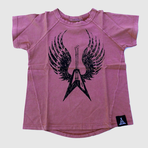 Quinn + Fox Rock wing slub tee