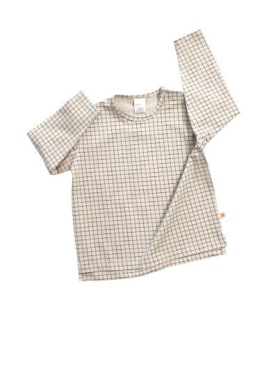 Tiny Cottons medium grid ls oversized tee