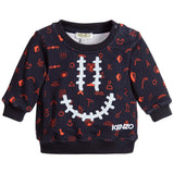 Kenzo Baby Boys Navy Blue 'Smiley' Sweatshirt