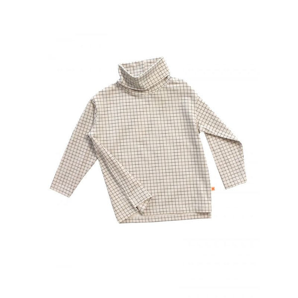 Tiny Cottons medium grid turtle neck tee