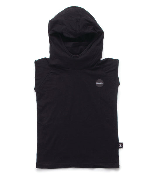 Nununu SS17 Hooded Ninja Shirt in Black