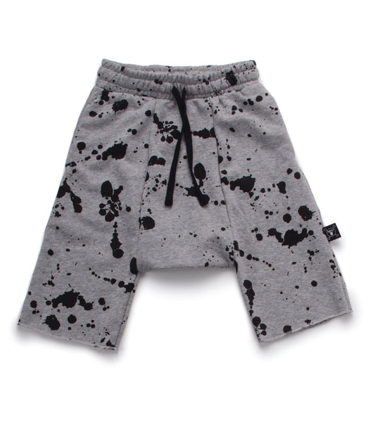 Nununu Splash Harem Shorts in Heather Grey