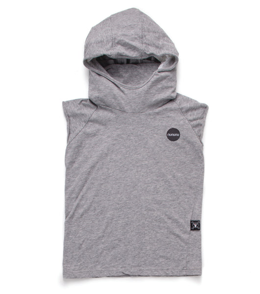 Nununu SS17 Hooded Ninja Shirt in Heather Grey