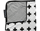 NUNUNU Blanket - Black Crosses