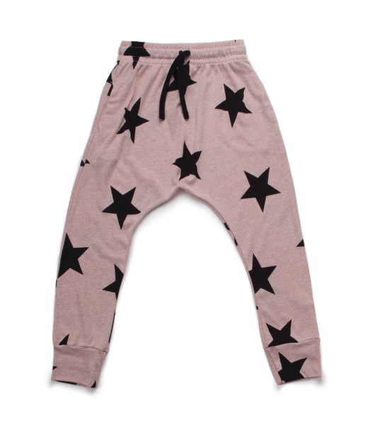 Nununu SS17 Star Baggy Pants in Powder Pink