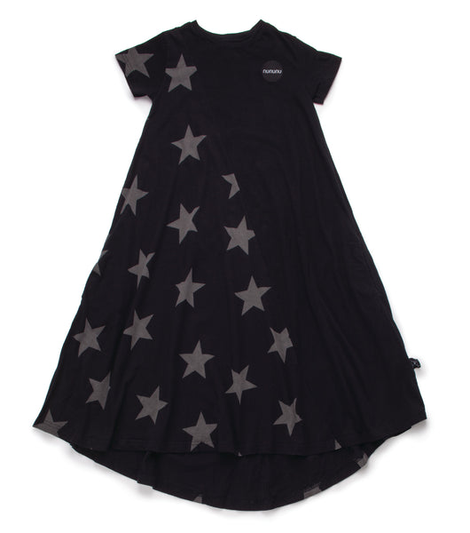 Nununu SS17 1/2 and 1/2 360 Star Dress in Black