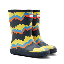 Original Kids First Classic Rain Boots Storm Stripes