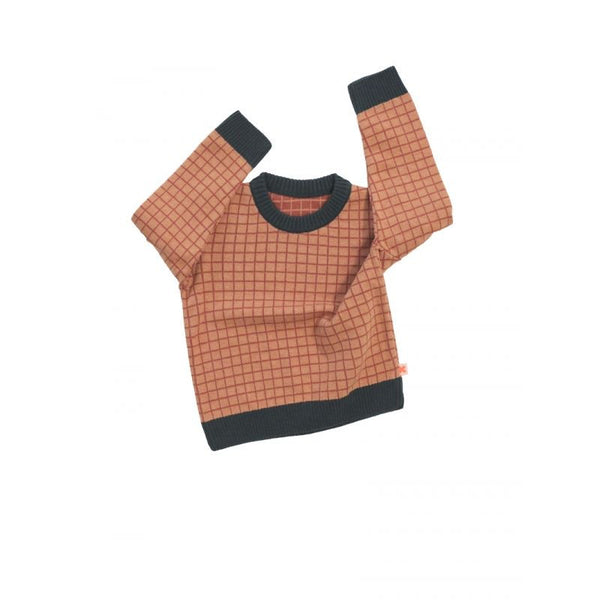 Tiny Cottons grid sweater knit