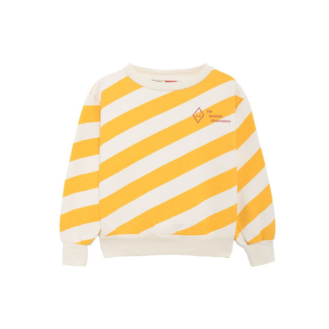 The Animals Observatory Bear Sweatshirt - Yellow Stripes [LAST ONE]