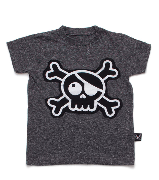 Nununu SS 17 Skull Patch T-Shirt in Charcoal