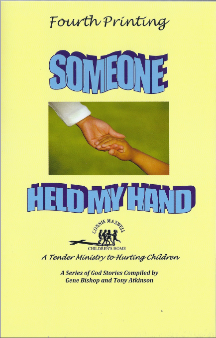 "Book cover, ""Someone Held My Hand"""