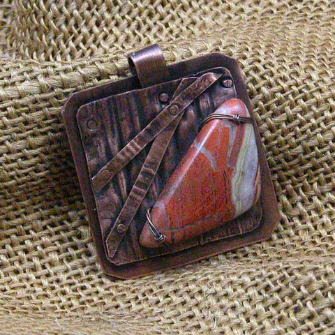 Jasper Gemstone Copper Pendant (P1501)