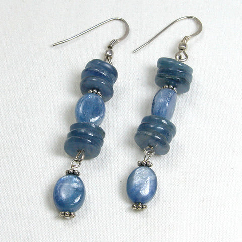 Kyanite Gemstone and Silver Earrings (E0077)